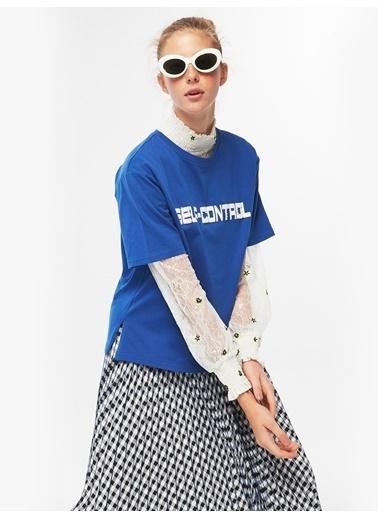 Twist Tişört Mavi